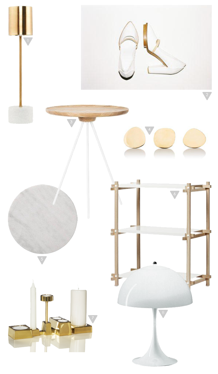 Friday Favorites_white and gold