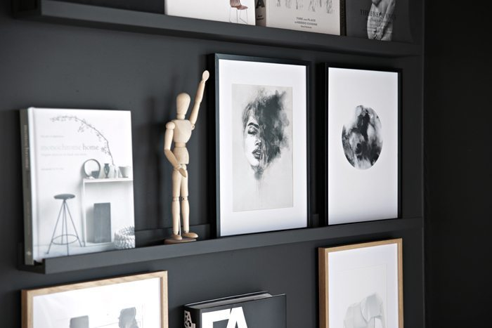Black picture wall