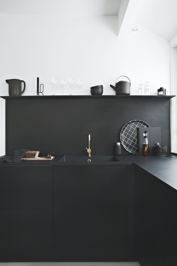 One kitchen three looks stylizimo blog bloglovin Modern kitchen black