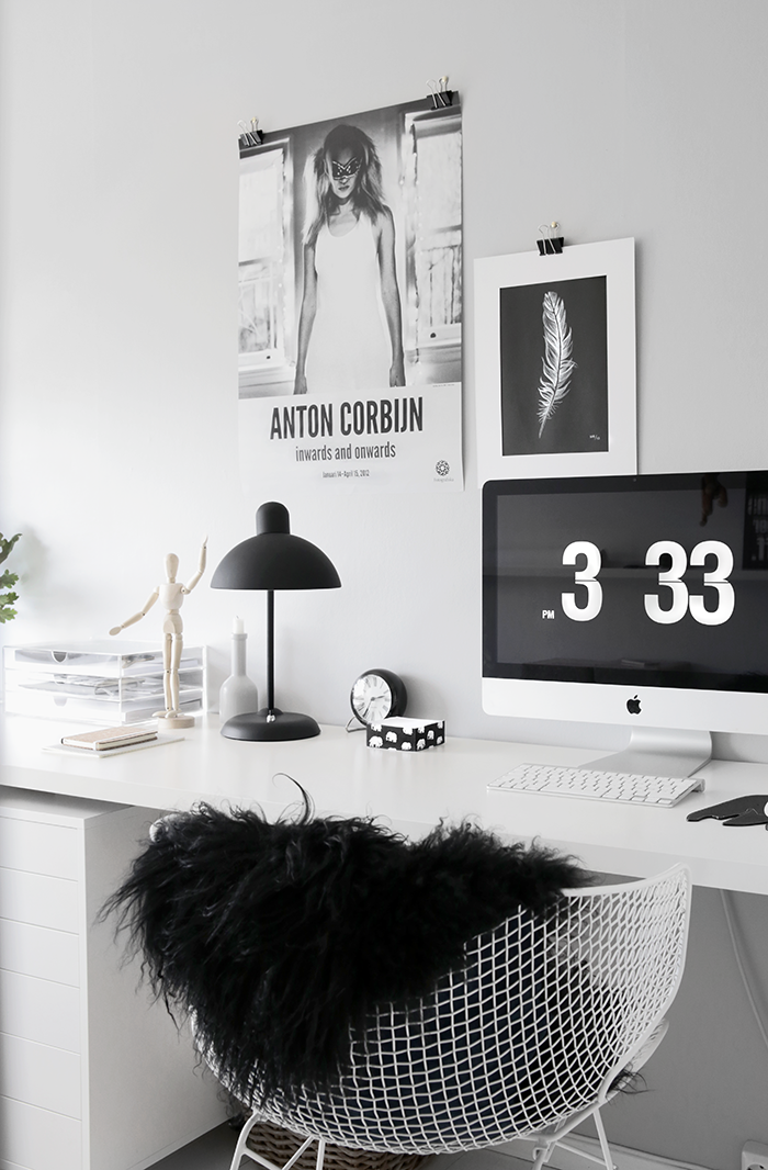 Grey home office