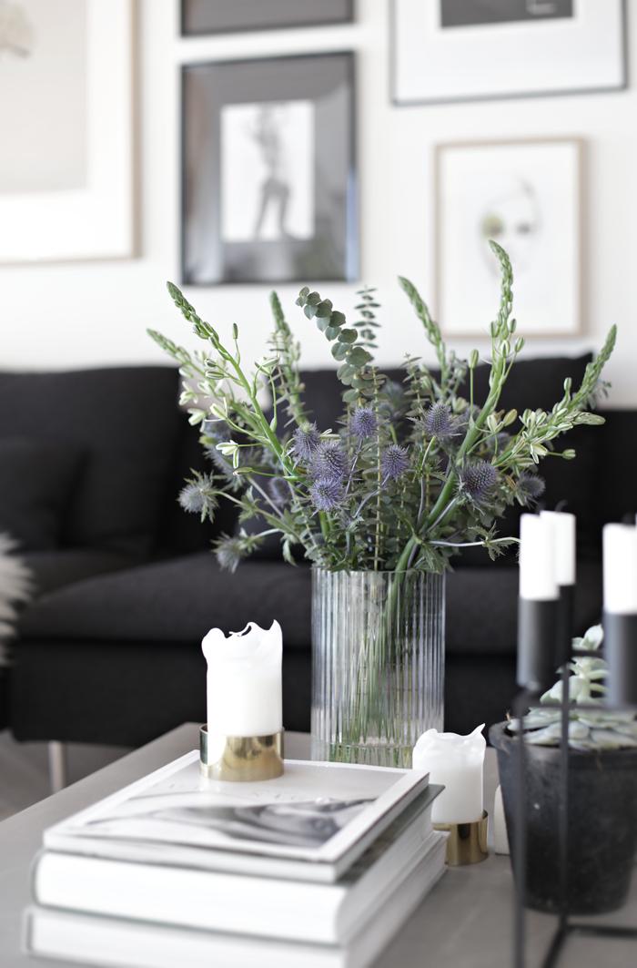 Flowers in Lyngby vase