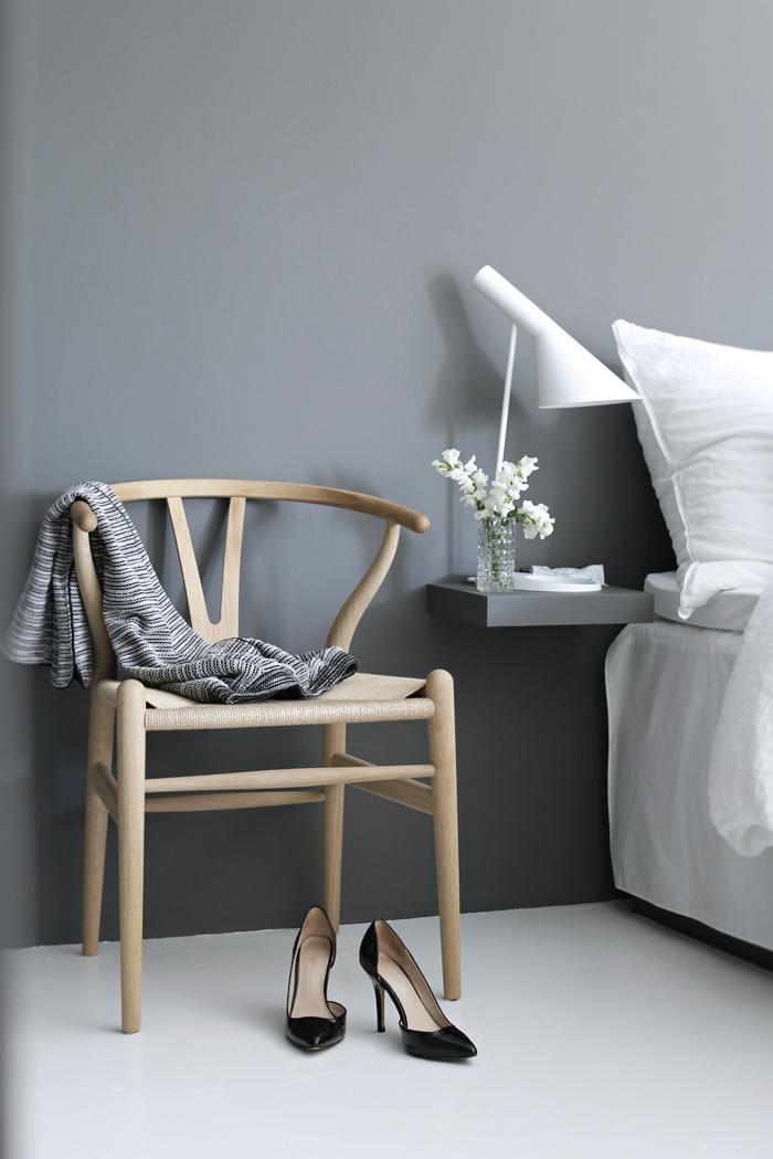 Wishbone chair_bedroom
