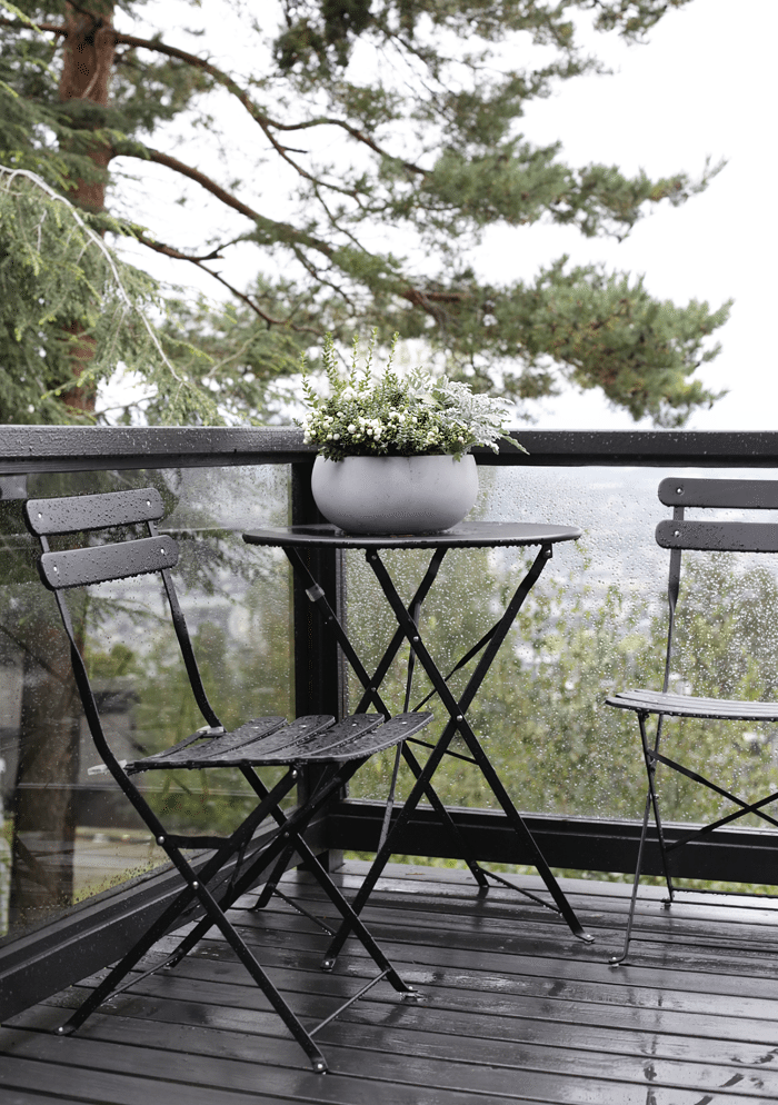 Balcony in the rain