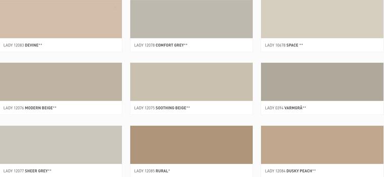 Jotun Lady Color Chart 2019 My Favorites Stylizimo