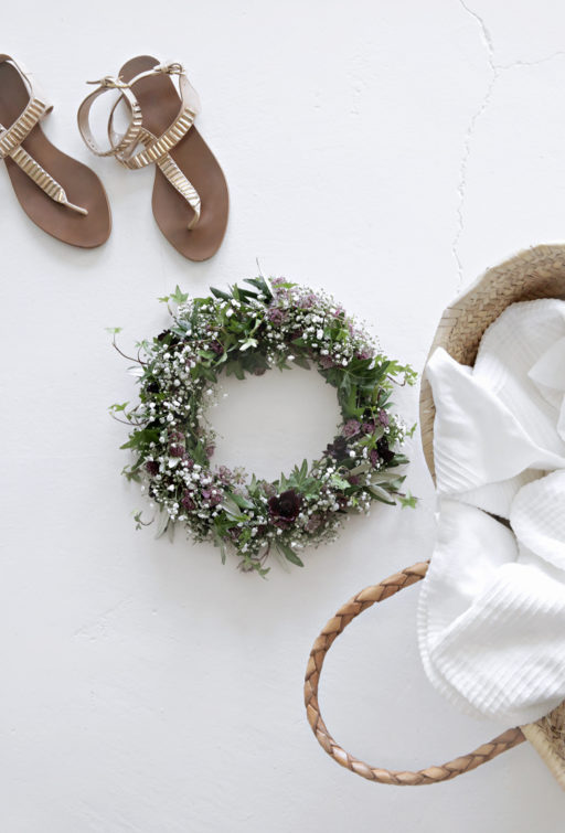 Midsummer floral head wreath