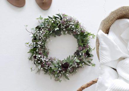 Midsummer floral head wreath