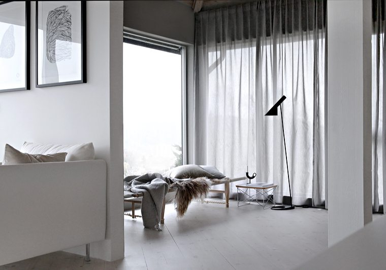 Grey curtains