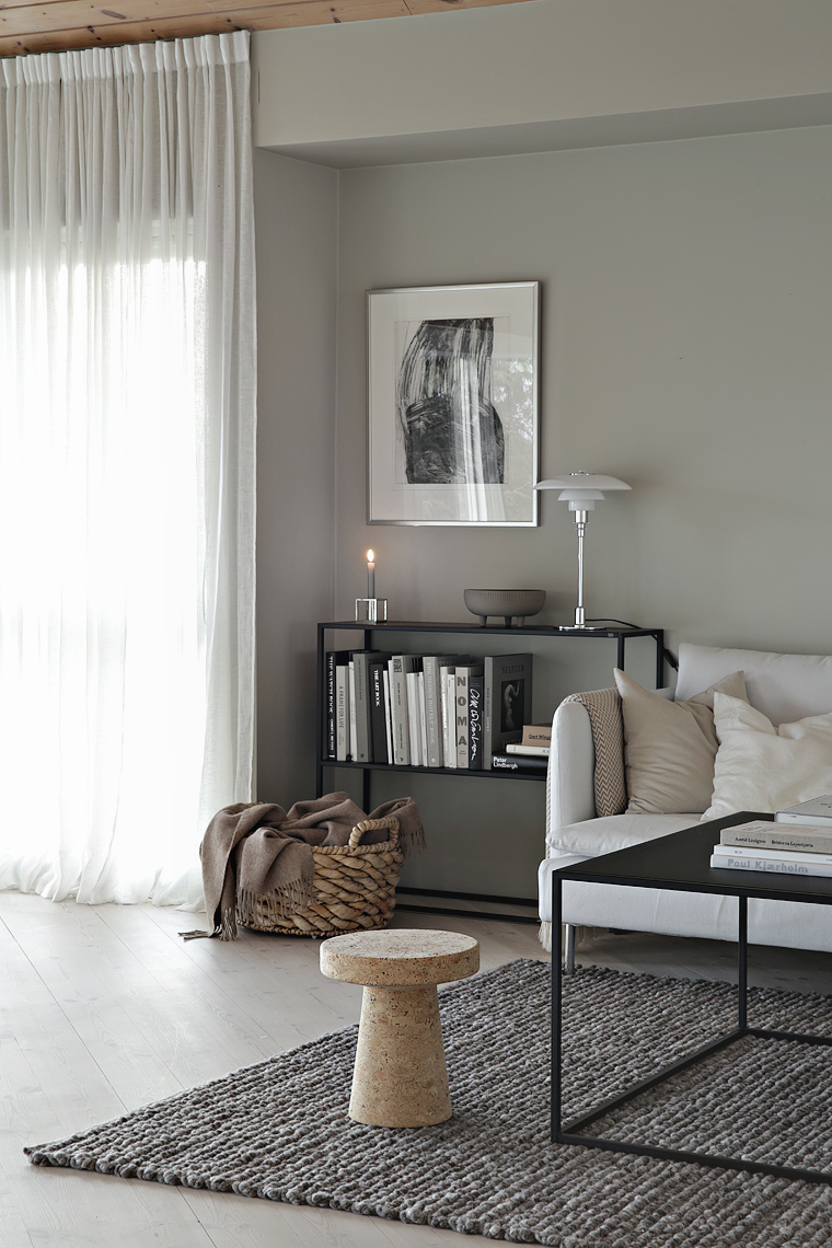 Beige and grey in the living room