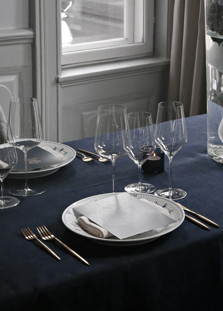 Royal Copenhagen´s blue table setting & Royal Copenhagen´s blue table setting | Stylizimo