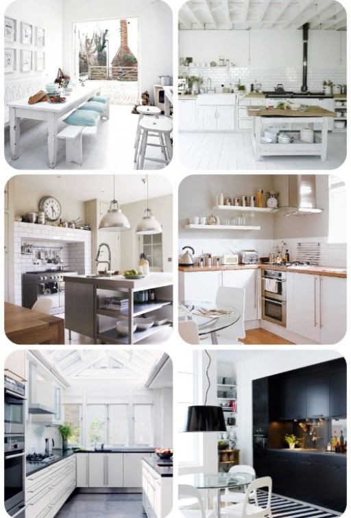 12 lovely white kitchens!