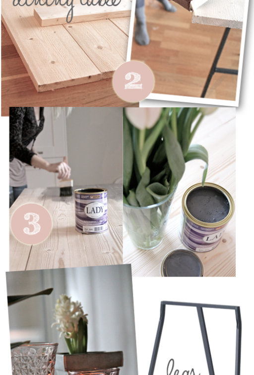 DIY: New trendy dining table in 1-2-3!