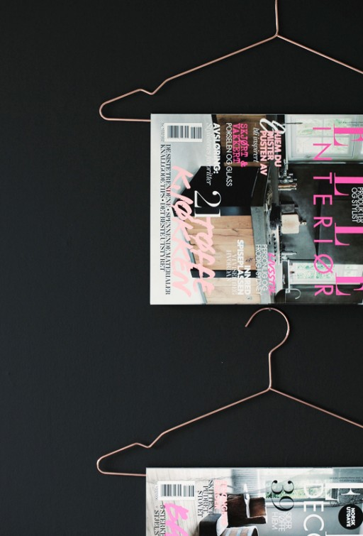 Tips: Magazines on hangers