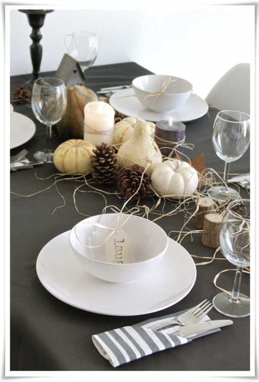 Halloween: table setting