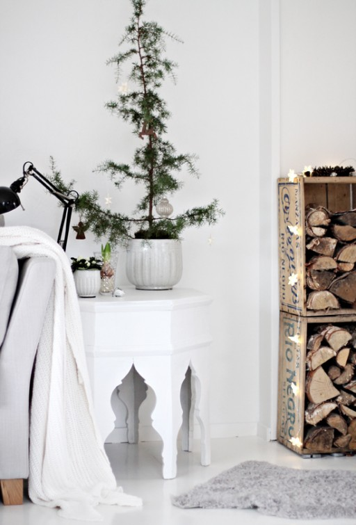 Christmas feeling and log storage