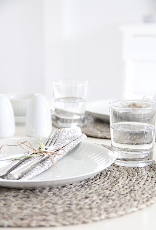 Table setting: Lunch for two