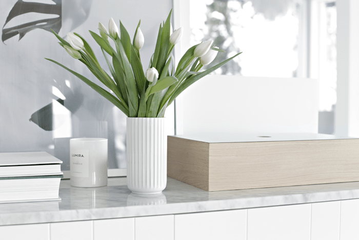 Lyngby vase hvit