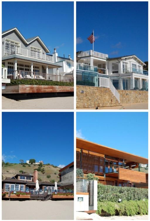 8 Houses on Malibu Beach