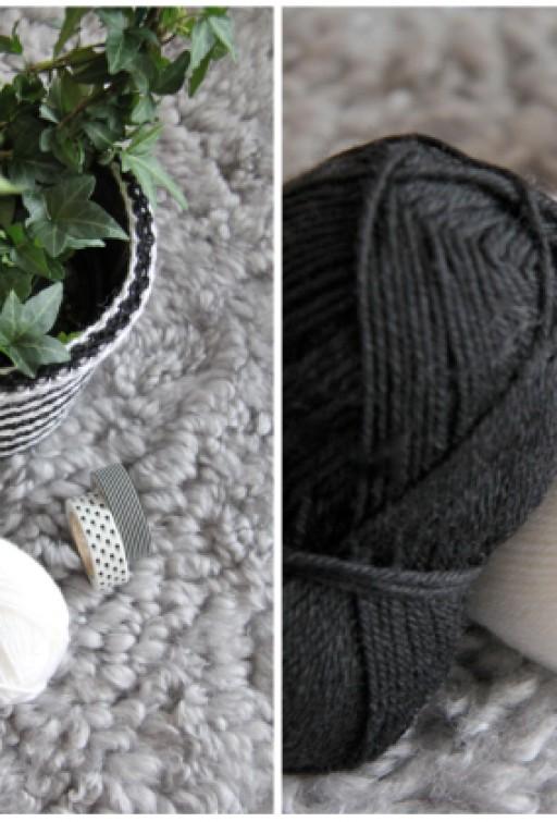 DIY: New striped pot!