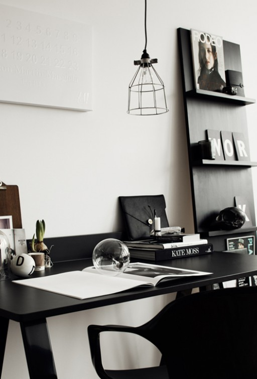 A chic office space