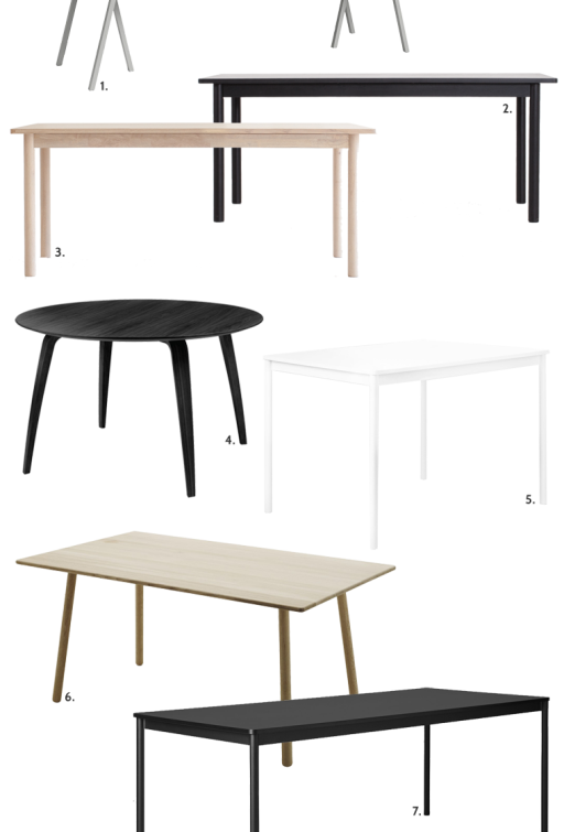 7 dining tables to like!