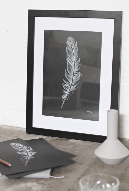 DIY Feather picture