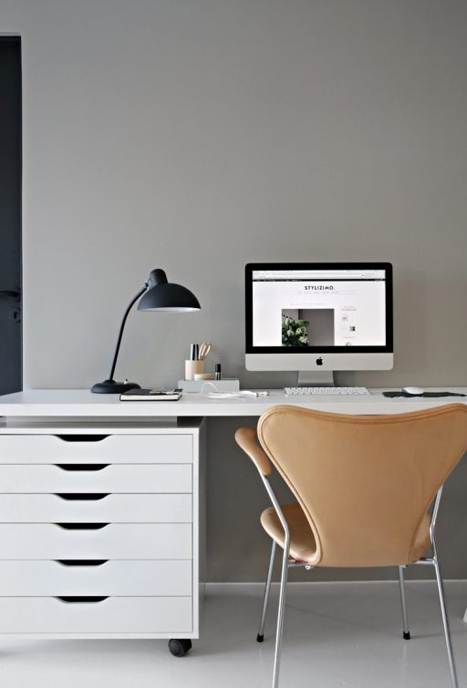 Warm grey in my office